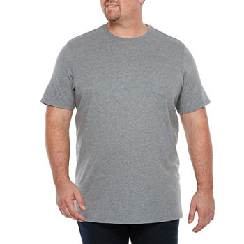 The Foundry Big & Tall Supply Co. Mens Crew Neck Short Sleeve Pocket T-Shirt
