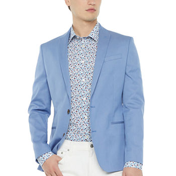 JF J.Ferrar Mens Pin Dot Slim Fit Sport Coat - Slim