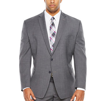 Collection By Michael Strahan Grey Weave Big and Tall Suit Separates
