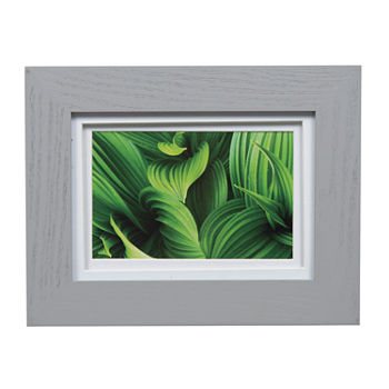 5x7 Wide Grey W White Double Mat To 4x6 Frame
