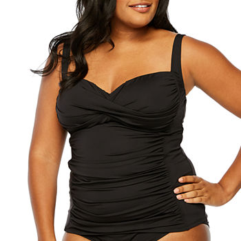 4182febb41ed6 Plus Size Adjustable Straps Swimsuits   Cover-ups for Women - JCPenney