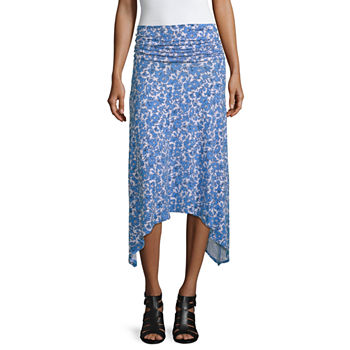 f8a1b3995 Mixit Womens Mid Rise High Low Handkerchief Skirt