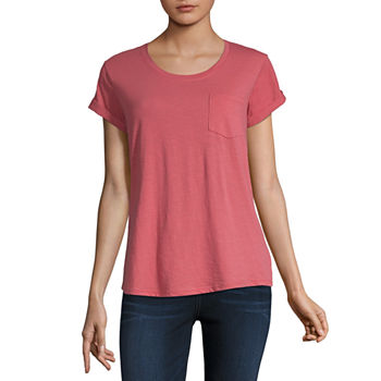 8a4dcdf3f079f8 Orange Tops for Women - JCPenney