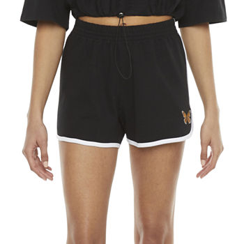 Cut And Paste Womens High Rise Pull-On Short-Juniors