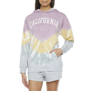 Cut And Paste-Juniors Womens Long Sleeve Fleece Hoodie