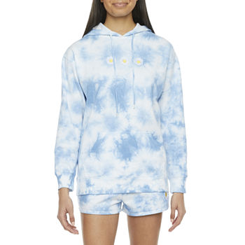 Cut And Paste-Juniors Flowers Fleece Hoodie