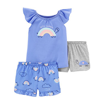 Carter's Toddler Girls 3-pc. Shorts Pajama Set