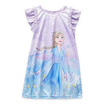 Disney Toddler Girls Elsa Short Sleeve Crew Neck Nightgown