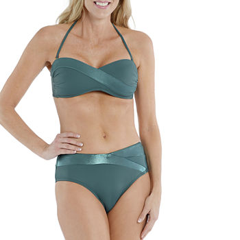 Mynah Time To Shine Spliced Bandeau and Mid Rise Bottom