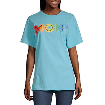 Mom Womens Crew Neck Short Sleeve Graphic T-Shirt