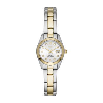 Relic By Fossil Tyla Womens Crystal Accent Two Tone Stainless Steel Bracelet Watch - Zr12620
