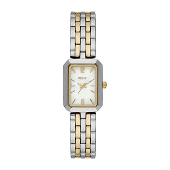 Relic By Fossil Tinsley Womens Two Tone Bracelet Watch - Zr34604