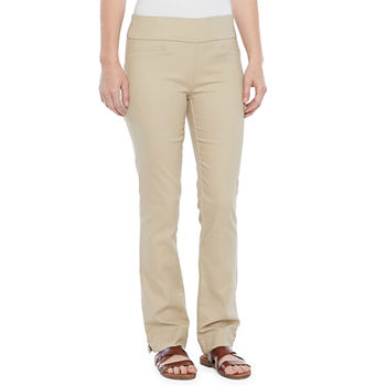 St. John's Bay-Tall Womens Mid Rise Straight Pull-On Pants