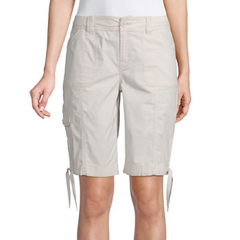 "St. John's Bay Womens Mid Rise 12"" Bermuda Short-Tall"