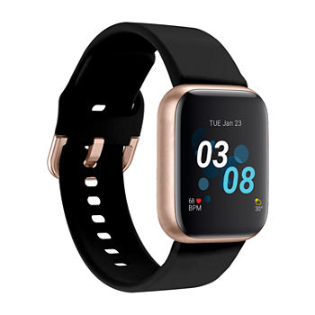iTouch Air 3 for Women: Rose Gold Case with Black Strap Smartwatch (40mm) 500009R-0-51-C02