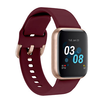 iTouch Air 3 for Women: Rose Gold Case with Merlot Strap Smartwatch (40mm) 500009R-0-51-C10