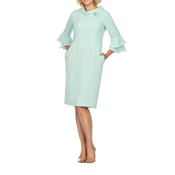 Giovanna Signature 3/4 Sleeve Shift Dress - Plus