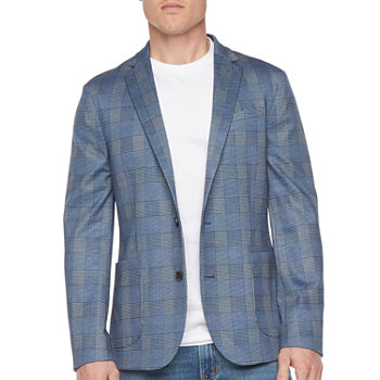 JF J.Ferrar Everyday 360 Mens Checked Stretch Regular Fit Sport Coat - Big and Tall