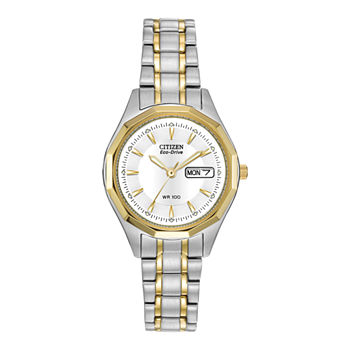 Citizen Corso Womens Two Tone Stainless Steel Bracelet Watch - Ew3144-51a