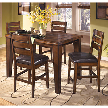 Signature Design By AshleyR Larchmont Counter Height 5 PC Rectangular Dining Set