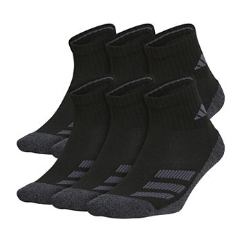 adidas Big Boys 6 Pair Quarter Socks