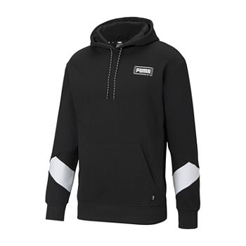 Puma-Big and Tall Rebel Mens Long Sleeve Hoodie
