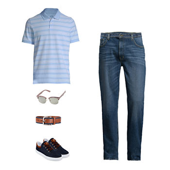 St. John's Bay Polo, Regular Fit Jean and Lace-Up Shoes