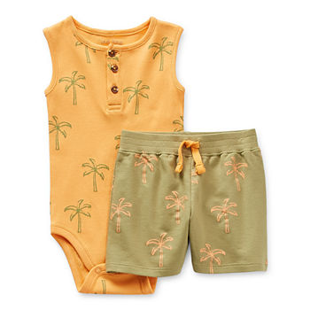 Okie Dokie Baby Boys 2-pc. Short Set
