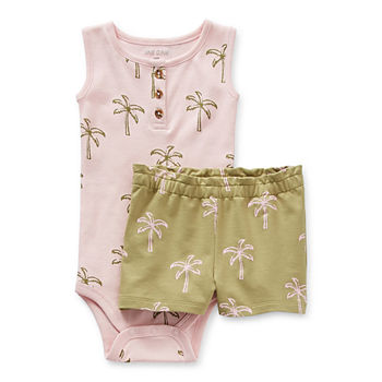 Okie Dokie Baby Girls 2-pc. Short Set
