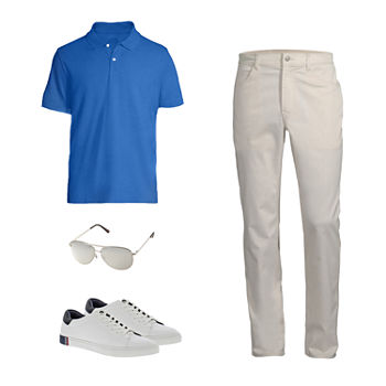 St. John's Bay Polo, Slim Fit Pant and Reebok Sneakers