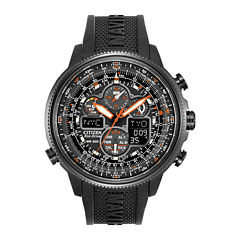 Citizen® Eco-Drive® Navihawk A-T Mens Black Chronograph Watch JY8035-04E