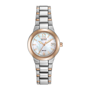 Citizen Chandler Womens Two Tone Stainless Steel Bracelet Watch - Ew1676-52d