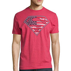 Superman America Short-Sleeve Cotton Tee