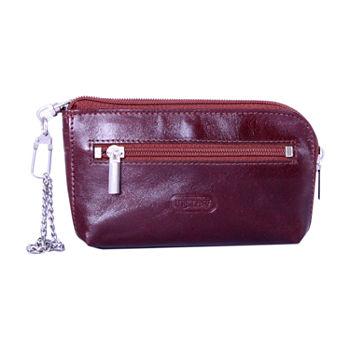 Zip Around Leather Key Chain
