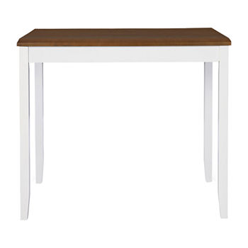 Janisse Dining Collection Rectangular Wood-Top Dining Table