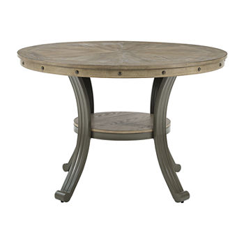 Firview Collection Round Wood-Top Dining Table
