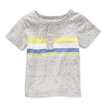 Okie Dokie Baby Boys Short Sleeve Henley Shirt