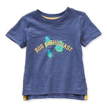 Okie Dokie Baby Boys Round Neck Short Sleeve Graphic T-Shirt