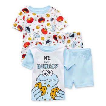 Cookie Monster Toddler Boys 4-pc. Sesame Street Shorts Pajama Set