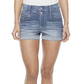 "Wallflower Womens High Rise 3"" Denim Short-Juniors"