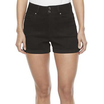 Ymi Womens High Rise Shortie Short-Juniors