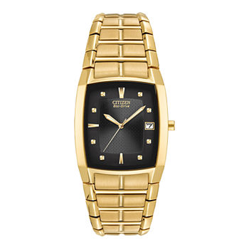 Citizen Paradigm Mens Gold Tone Stainless Steel Bracelet Watch - Bm6552-52e