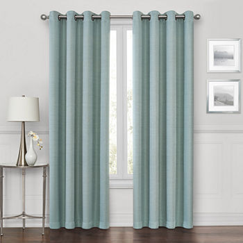 Maxx Blackout Prescott 100% Blackout Grommet-Top Single Curtain Panel