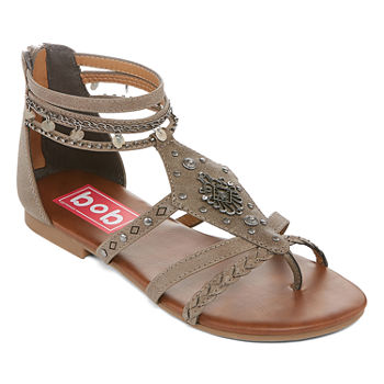 3dd5704d331c4 Pop Womens Amica Ankle Strap Flat Sandals · (3). Add To Cart. Grey. Cognac.   23.99