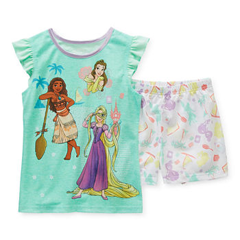 Disney Little & Big Girls 2-pc. Disney Princess Shorts Pajama Set
