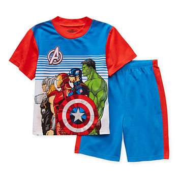 Disney Little & Big Boys 2-pc. Avengers Shorts Pajama Set