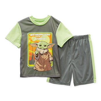 Disney Little & Big Boys 2-pc. Star Wars Shorts Pajama Set