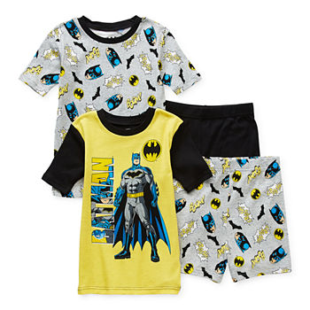 Little & Big Boys 4-pc. Batman Shorts Pajama Set