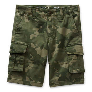 Arizona Little & Big Boys Adjustable Waist Cargo Short