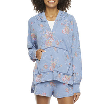 Bloom + Blare-Juniors Womens Long Sleeve Knit Hoodie